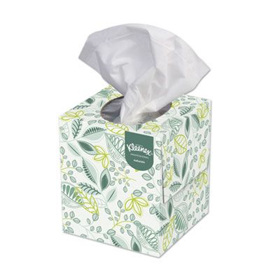 "Kimberly-Clark 21272 Kleenex Naturals 2 Ply Facial Tissue, 95 Sheets / Cube Box, 8.4"" x 8.5"" - 36 / Case"
