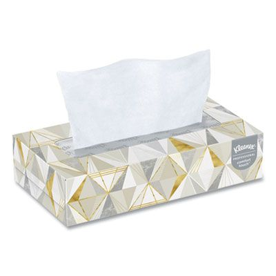 "Kimberly-Clark 3076 Kleenex Facial Tissue, 2 Ply, 8.2"" x 8.5"", 125 / Flat Box - 12 / Case"