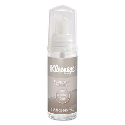 Kimberly-Clark 34136 Kleenex Foam Hand Sanitizer, Alcohol-Free, 1.5 oz Travel Bottle - 24 / Case