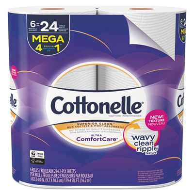 Kimberly Clark 48611 Cottonelle Ultra ComfortCare Toilet Paper, 2 Ply, 284 Sheets / Roll - 36 / Case