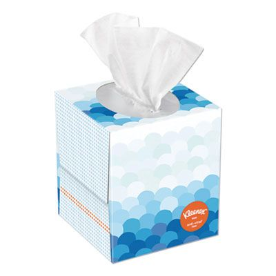 "Kimberly-Clark 49978 Kleenex Anti-Viral Facial Tissue, 3 Ply, 60 Sheets / Cube Box, 8.2"" x 8.4"", White - 27 / Case"