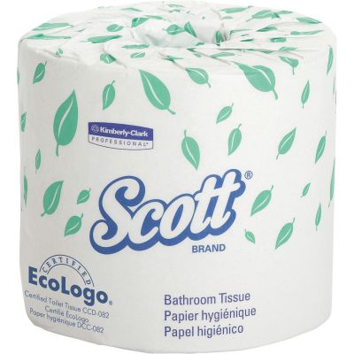 Kimberly-Clark 5102 Scott Toilet Paper, 1 Ply, 1210 Sheets / Standard Roll - 80 / Case