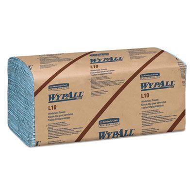 "Kimberly-Clark 5120 WypAll L10 Windshield Wiper Towels, 2 Ply, 9.3"" x 10.25"", Blue - 2240 / Case"