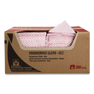 "Kimberly-Clark 51639 WypAll Foodservice Wiper Towels, 12.5"" x 23.5"", Red / White - 200 / Case"
