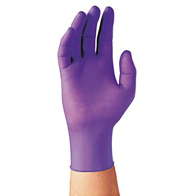 Kimberly-Clark 55083 Nitrile Powder-Free Exam Gloves, Large, Purple - 100 / Case
