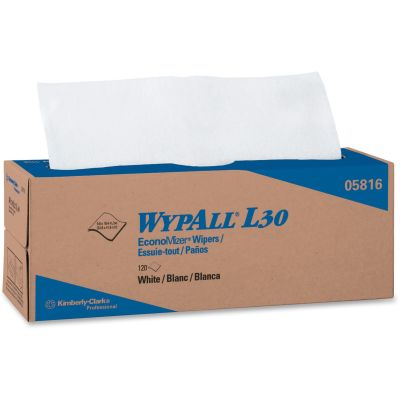 "Kimberly-Clark 5816 WypAll L30 EconoMizer Wipers, 9.8"" x 16.4"", White - 720 / Case"