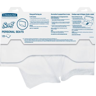 "Kimberly-Clark 7410 Scott Personal Seats Toilet Seat Covers, 15"" x 18"", White - 3000 / Case"