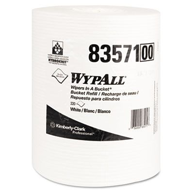 "Kimberly-Clark 83571 WypAll X70 Wipers Refill, 10"" x 13"", 220 / Roll, White - 3 / Case"