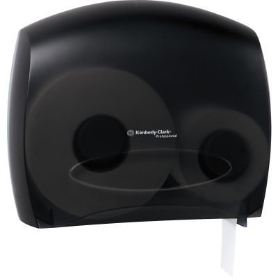 Kimberly-Clark 9507 Escort Jumbo Roll Jr. Toilet Paper Dispenser with Stub Roll, Smoke - 1 / Case