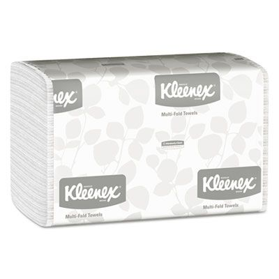 "Kimberly-Clark 1890 Kleenex Multifold Paper Hand Towels, 9-1/5"" x 9-2/5"", White - 2400 / Case"