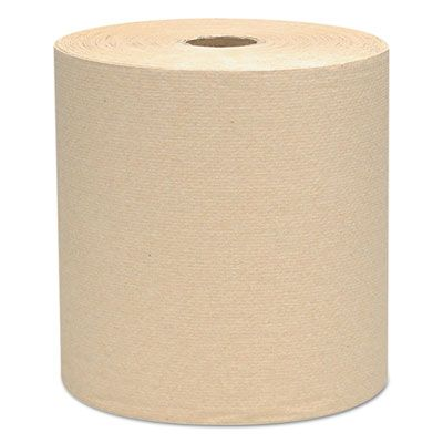 """Kimberly-Clark 04142 Scott Essential Hardwound Roll Paper Hand Towels, 1 Ply, Recycled, 8"""" x 800', 1.5"""" Core, Brown - 12 / Case"""