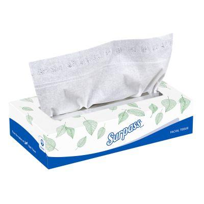 "Kimberly-Clark 21340 Surpass 2 Ply Facial Tissue, 100 Sheets / Flat Box, 8.3"" x 8"", White - 30 / Case"