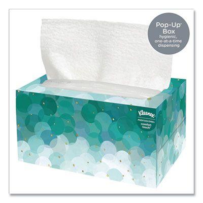 Kimberly-Clark 11268 Kleenex Ultra Soft Hand Towels, 70 / Pop-Up Box, White - 18 / Case