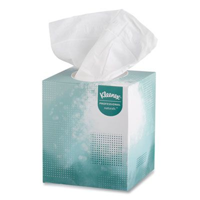 Kimberly-Clark 21272 Kleenex Professional Naturals Facial Tissue, 2 Ply, 95 Tissues / Cube Box, White - 36 / Case