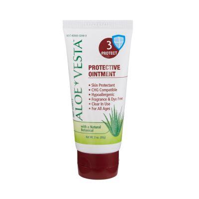 Medline 324913 Aloe Vesta Skin Protectant Ointment, Unscented, CHG Compatible, 2 oz Tube - 24 / Case