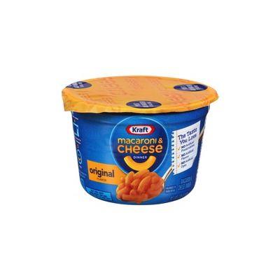 Kraft Foods 10870 EasyMac Macaroni & Cheese Cups, Original, Microwaveable, 2.05 oz - 10 / Case