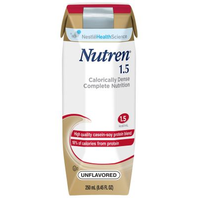 Nestle Health 00798716162203 Nutren 1.5 Tube Feeding Formula for Adults, 1.5 Cal / mL, Unflavored, 8.45 oz Carton - 24 / Case