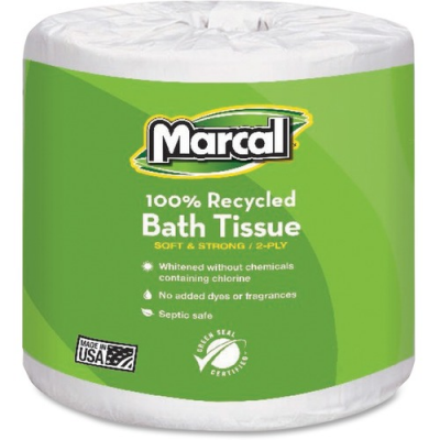 Marcal Paper 6079 Toilet Paper, 2 Ply, 336 Sheets / Roll, White - 48 / Case