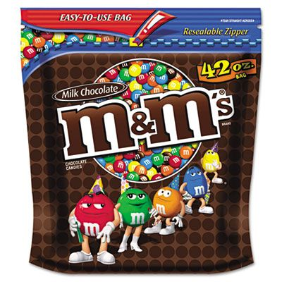 Mars 32438 M & M's Milk Chocolate with Candy Coating, 42 oz Pack - 2 / Case