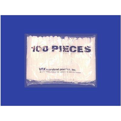 Maryland Plastics P3303 Plastic Knives, Polystyrene, White - 1000 / Case