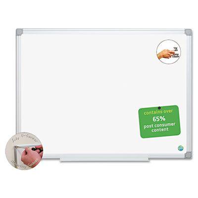 "Bi-silque MA0200790 Earth Dry-Erase Board, Magnetic, 24"" x 18"", Aluminum / White - 1 / Case"