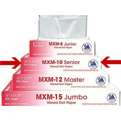 """McNairn Packaging 105303 Deli Paper Wrap Up+ Sheets, 10"""" x 10.75"""" - 6000 / Case"""