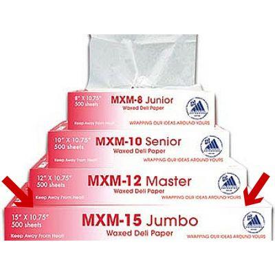 "McNairn Packaging 105305 Deli Paper MXM-15 Jumbo Sheets, 15"" x 10.75"" - 6000 / Case"