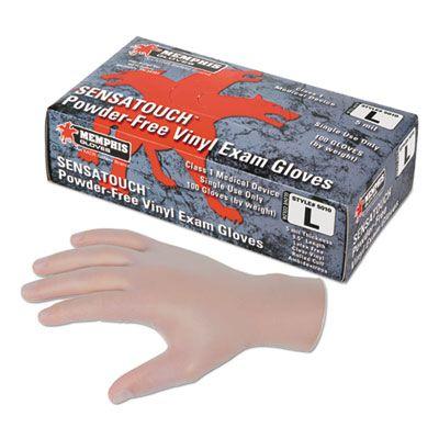 MCR Safety 5010M Sensatouch Vinyl Disposable Gloves, Powder-Free, Medical Grade, Medium, Clear - 1000 / Case