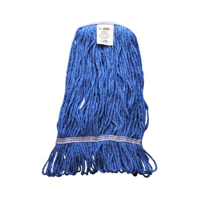 Zephyr 09423 BBL Medium Blue Loop Mop Head, Wide Band - 12 / Case
