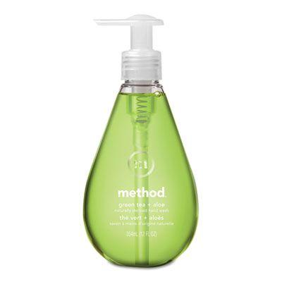 Method 33 Gel Hand Wash, Green Tea + Aloe Scent, 12 oz Pump Bottle - 6 / Case