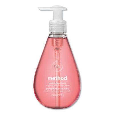 Method 39 Gel Hand Wash, Pink Grapefruit Scent, 12 oz Pump Bottle - 6 / Case