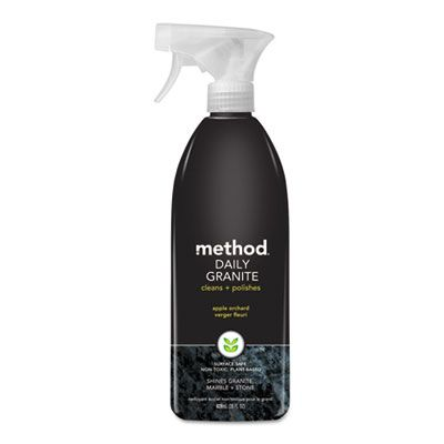 Method 00065 Daily Granite Cleaner, Apple Orchard, 28 oz Spray Bottle - 8 / Case