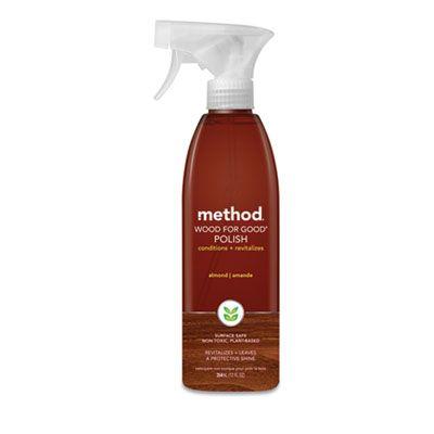 Method 00086 Wood for Good Polish, Liquid, 12 oz Spray Bottle - 6 / Case