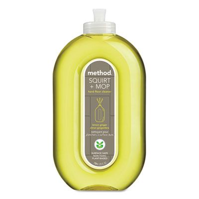 Method 00563 Squirt & Mop Hard Floor Cleaner, Lemon Ginger, 25 oz Bottle - 6 / Case