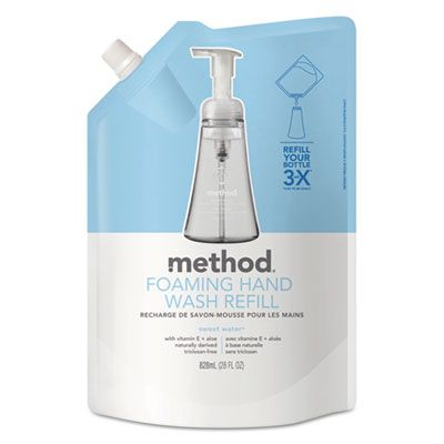 Method 662 Foaming Hand Wash Refill, Sweet Water Scent, 28 oz Pouch - 6 / Case