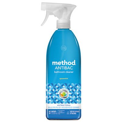 Method 1152 Antibacterial Bathroom Cleaner, Spearmint, 28 oz Spray Bottle - 8 / Case