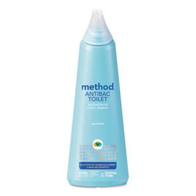 Method 1221 Antibacterial Toilet Bowl Cleaner, Spearmint, 24 oz Bottle - 6 / Case