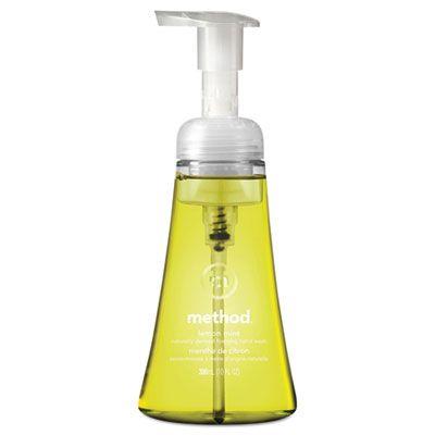 Method 1162 Foaming Hand Wash, Lemon Mint Scent, 10 oz Pump Bottle - 6 / Case