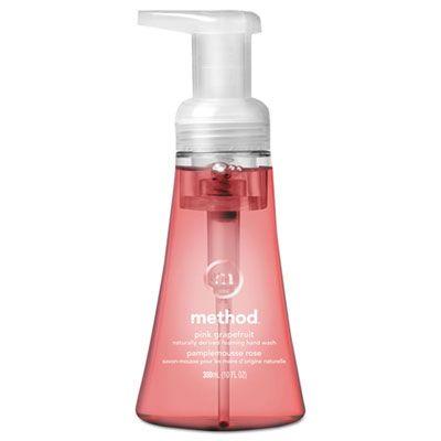 Method 1361 Foaming Hand Soap, Pink Grapefruit Scent, 10 oz Pump Bottle - 6 / Case