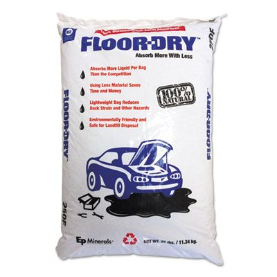Moltan 9825 Floor Dry DE Premium Oil Absorbent, Diatomaceous Earth, 25 lb Poly Bag - 1 / Case