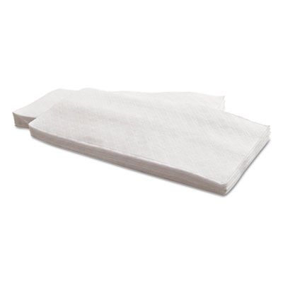"Morcon 1517 Paper Dinner Napkins, 1 Ply, 15"" x 17"", White - 4512 / Case"