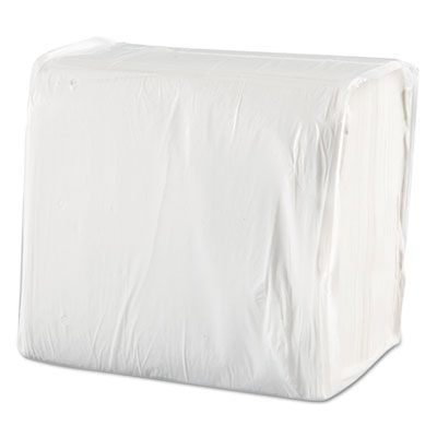 "Morcon 1717 Paper Dinner Napkins, 1 Ply, 16"" x 16"", White - 3000 / Case"