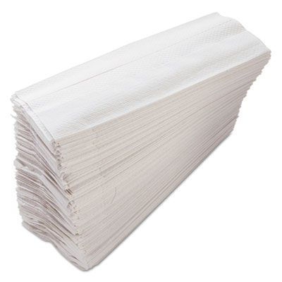 "Morcon C122 C-Fold Paper Hand Towels, 11"" x 10.13"", White - 2400 / Case"