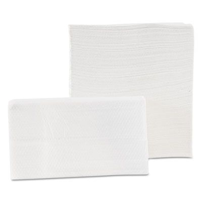 """Morcon D20500 Tall Fold Paper Napkins, 1 Ply, 7"""" x 13.5"""", White - 10000 / Case"""