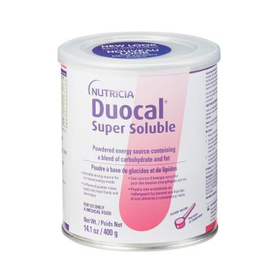 Nutricia 49828 Duocal Energy Supplement Powder (Oral), Carbohydrates & Fat, Unflavored, 400 g / 14 oz Can - 6 / Case