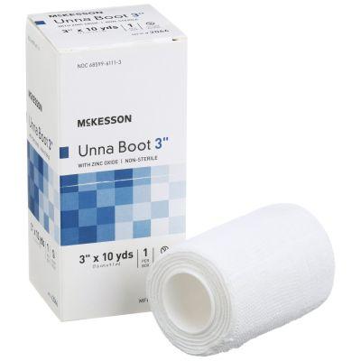 "McKesson 2066 Unna Boot, Cotton Zinc Oxide, 3"" x 10 Yds, NonSterile - 12 / Case"