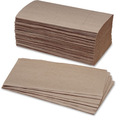 SKILCRAFT 2627178 Singlefold Paper Hand Towels, Kraft Brown - 4000 / Case