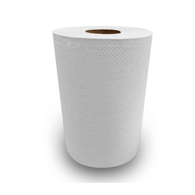 "Nittany Paper NP-12350EW Hardwound Roll Paper Towels, Recycled, 7.875"" x 350', White - 12 / Case"