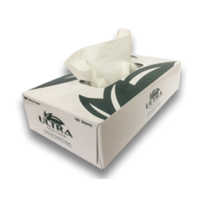 """Nittany Paper Mills NP-5701 Ultra Facial Tissue, 100 Sheets / Flat Box, 8"""" x 7.75"""" - 30 / Case"""