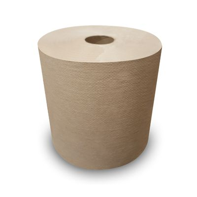"Nittany Paper NP-6800ENC Signature Hardwound Roll Paper Towels, Recycled, 7-7/8"" x 800', Kraft Brown - 6 / Case"